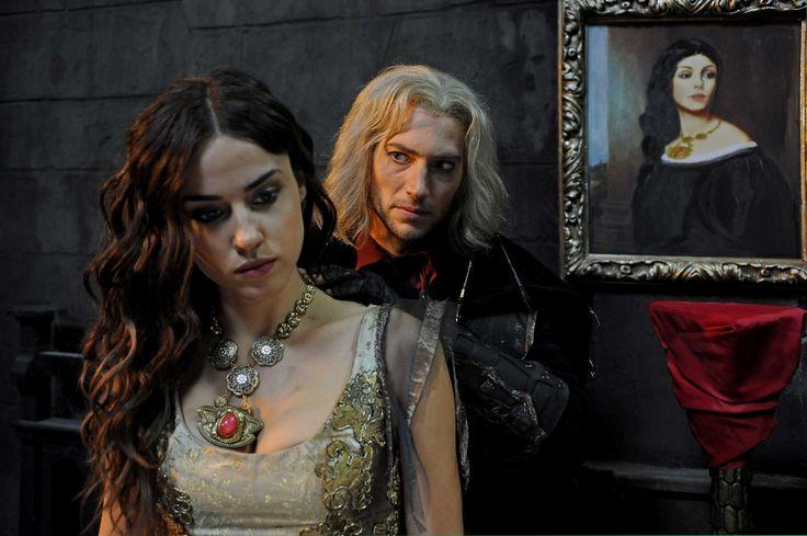 "Luke Roberts with Kelly Wenham from ""Dracula -The Dark Prince"""