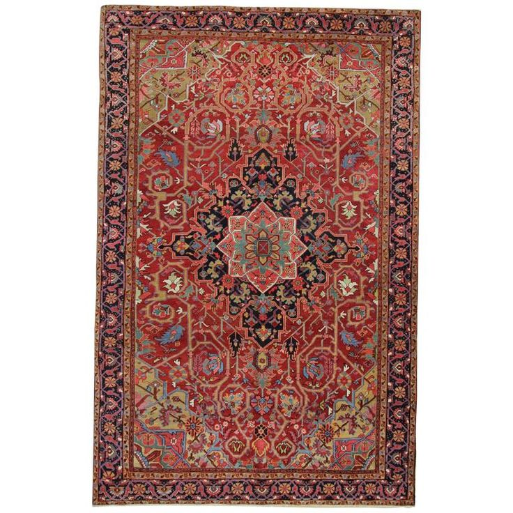 Antique Persian Rugs, Persian Carpet from Heriz For Sale