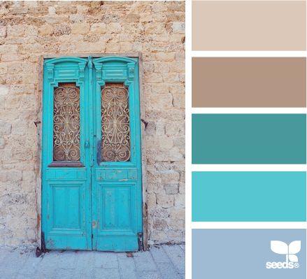 Rich turquoise color palette