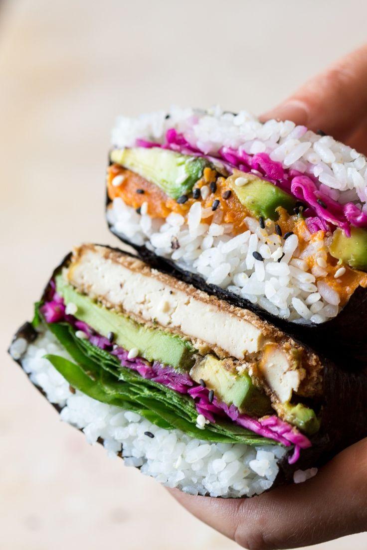 Onigirazu (sushi sandwich) - Lazy Cat Kitchen                                                                                                                                                                                 More