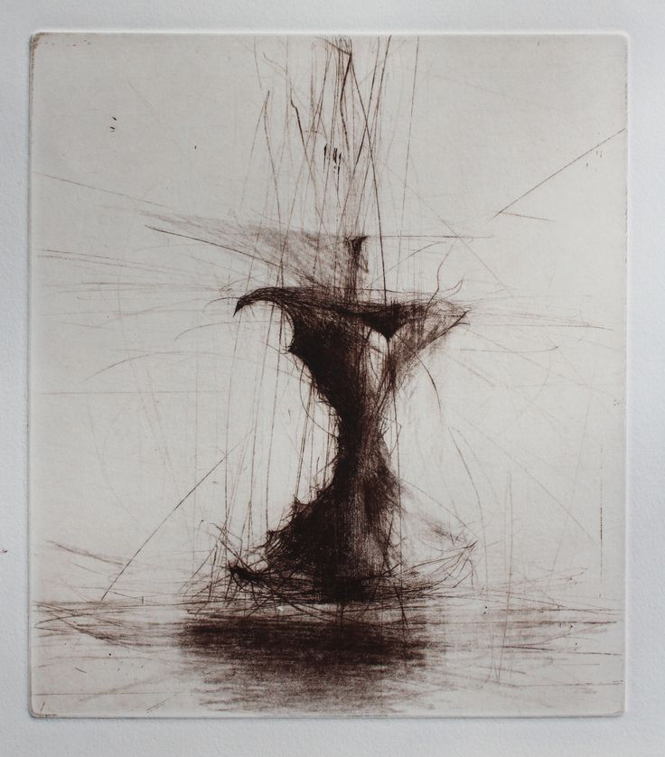 Jake Muirhead, 'Apple Core', drypoint