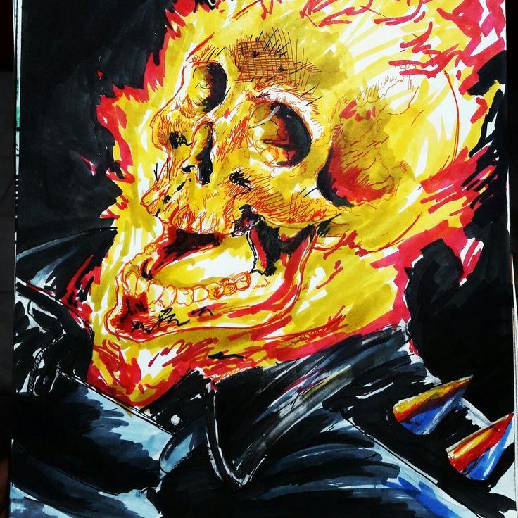 Ghost raider my art sketch