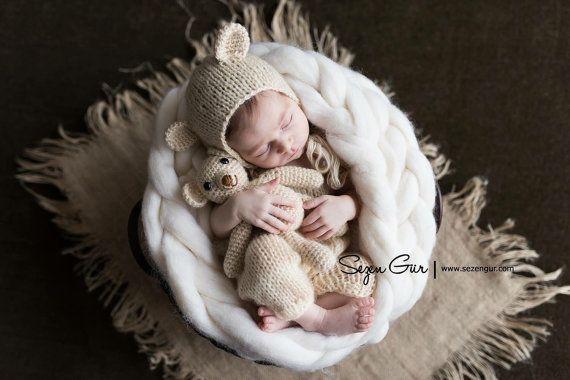Itinérant de laine, laine Braid Photo Prop, photographie de tresse avec Rove de bébé nouveau-né panier de Noël