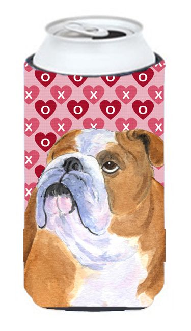 Carolines Treasures SS4491TBC Bulldog English Hearts Love Valentines Day Tall Bo