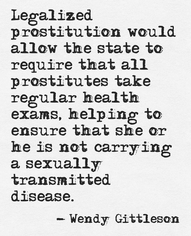 advantages of legalizing prostitution