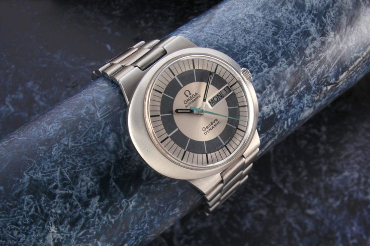 Omega Geneva Dynamic Auto. Introduced in 1968 and designed to uniquely fit the human wrist with its revolutionary case design these first Dynamics were a huge success due in no small part to the fact that they were and still are very comfortable to wear . This example from c 1968 with its original Omega stainless steel 42 mm …