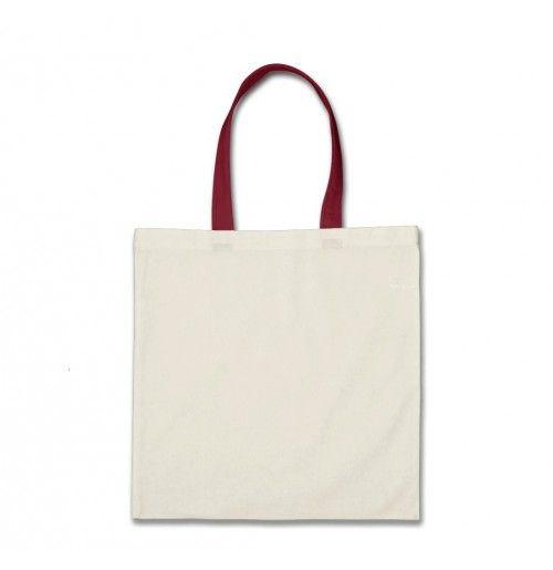 White Colour Linen Shopping Bag