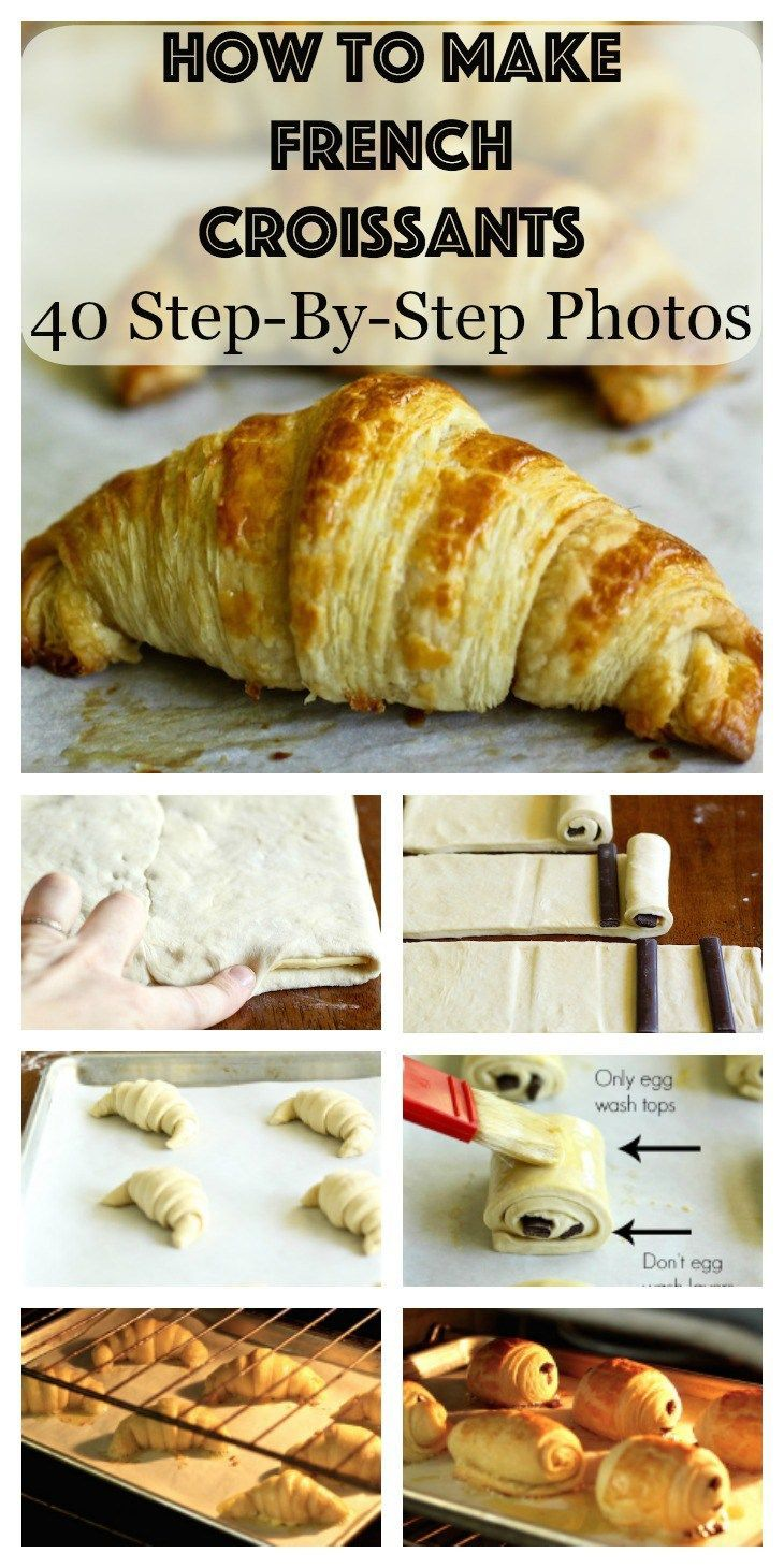 Learn how to make the most unbelievable and authentic French croissants and chocolate croissants from scratch with over 40 step-by-step photos!