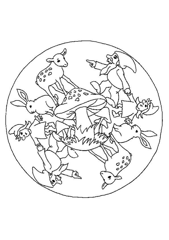 Coloriage mandala lutin sur Hugolescargot.com - Hugolescargot.com