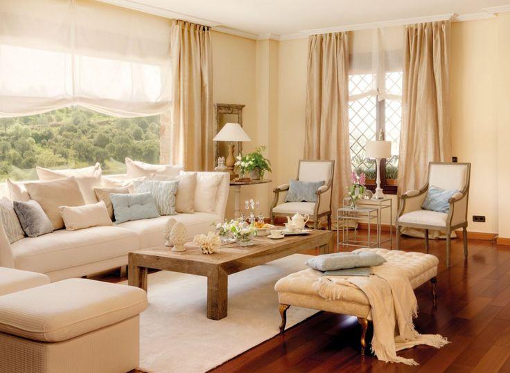 M s de 25 ideas incre bles sobre casas campestres en pinterest - Disenos de cortinas para salones ...