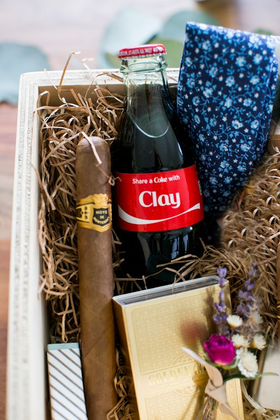 A groom's gift box idea + Share a Coke giveaway