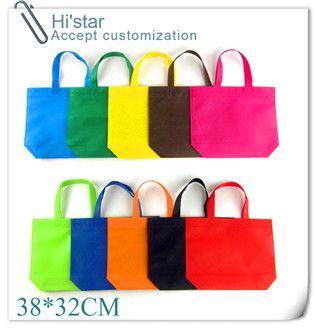 38*32cm 20pcs Non woven bag/30x25cm blank non woven fabric bag for shopping bag non-woven supermarket garment bag/ women handbag