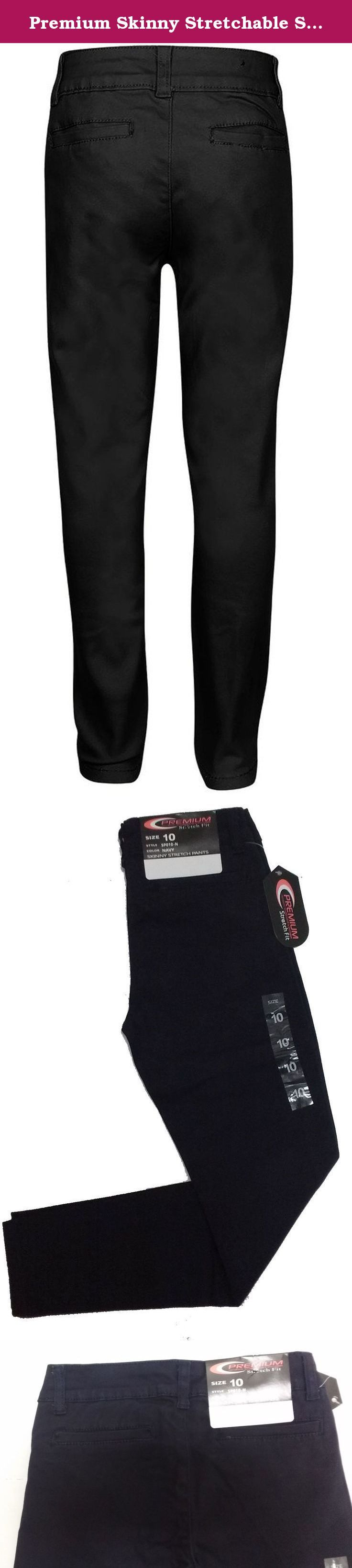 Premium Skinny Stretchable School Uniform Pants for Girls 12 Black. Have you been finding it difficult to get a skinny pant with stretchable material that looks stylish too? Or Are you looking for a skinny pant that can be comfortably worn for long durations without causing itching, excessive sweating or irritation? Well, we bring to you a skinny pant design that you will love for its many incredible features and benefits: - Stylish skinny fit with straight leg openings - looks trendy and...