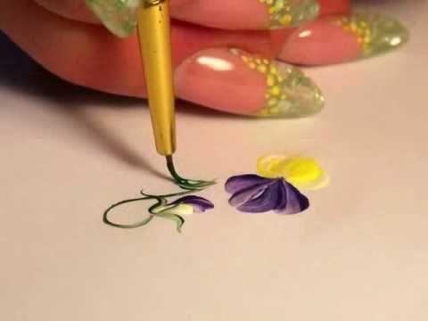 micropittura Oksana Bilous : TUTORIAL NAIL DESIGN - Violette