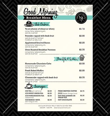 Best 25+ Menu design templates ideas on Pinterest Menu design - free cafe menu templates for word