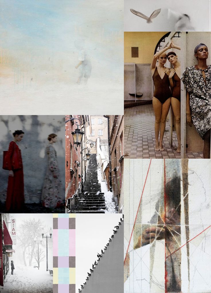 inspirational moodboard - FW18 ANHET Collection