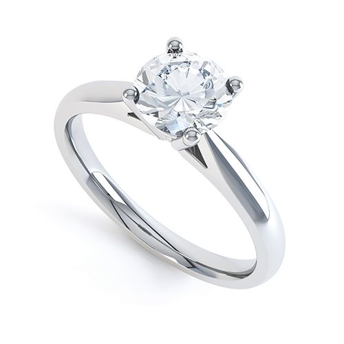 Audrina 4 Claw Engagement Ring. One of the most popular engagement rings in the world. #diamondring