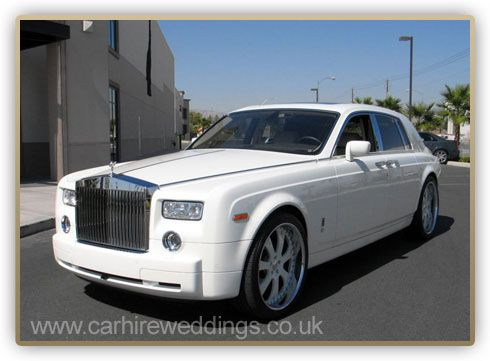 Rolls Royce Phantom White Wedding Car Hire