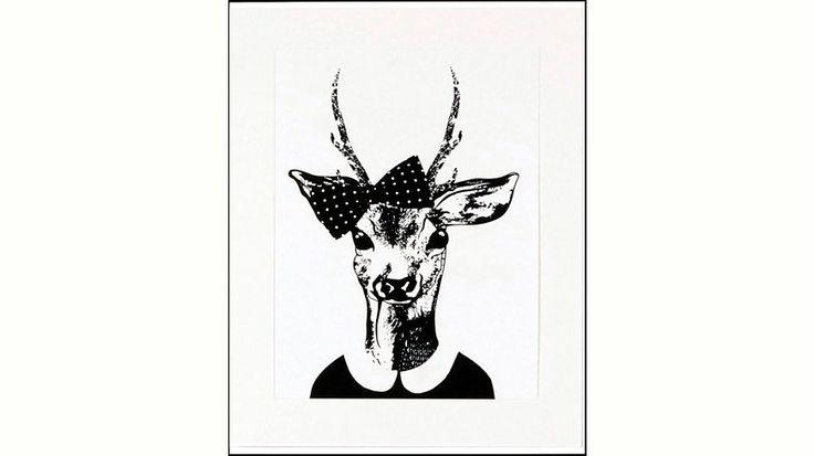 Home affaire gerahmter Kunstdruck »Reh-Frau in Spaziergang-Kleidung«, 33/43 cm Jetzt bestellen unter: https://moebel.ladendirekt.de/dekoration/bilder-und-rahmen/poster/?uid=8a2dcb5b-6144-5383-8d8b-d26b4b43f63b&utm_source=pinterest&utm_medium=pin&utm_campaign=boards #bilder #rahmen #poster #dekoration