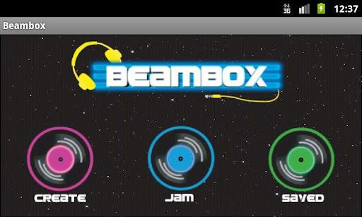 Beambox is a simple music creation tool/game. When opened,  you have three possible navigation options: you can go to the create screen where you are capable of recording songs you make; the jam screen where you are able to play music alongside songs you have on your phone; and the saved screen where you are able to play back songs you have created and share them with others. It has been tested and is fully working the following devices: Nexus One, Galaxy S I, II, III, Archos 70, and the HTC…
