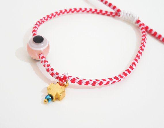 march bracelet martis red cord bracelet greek by christelboutique