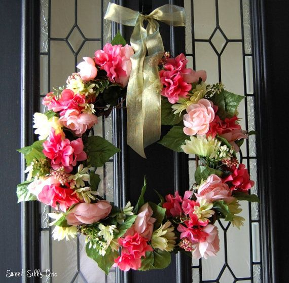 131 best images about wreaths spring flowers on Spring flower arrangements for front door