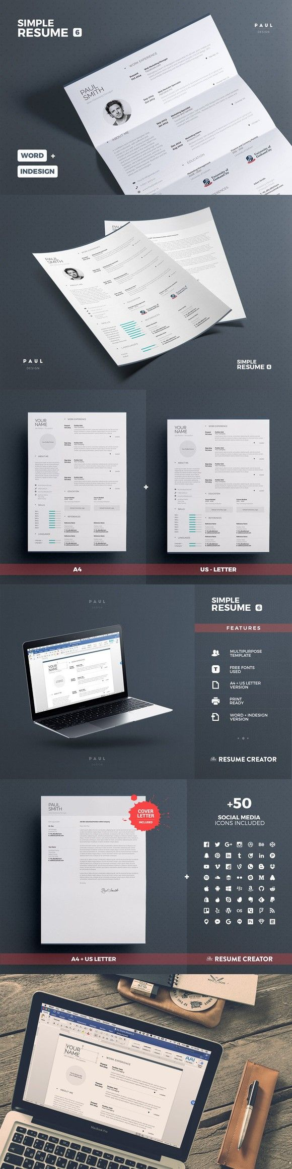 364 Best Resumes Images On Pinterest Resume Templates Resume