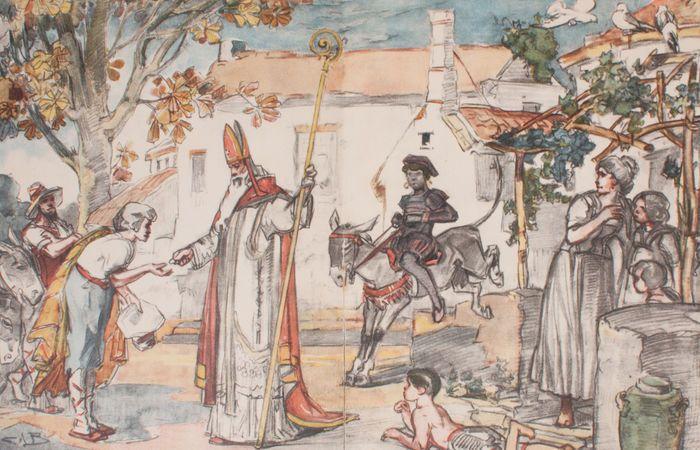 Illustratie uit het boek ' Van Spanje naar ons Land' - ca. 1920