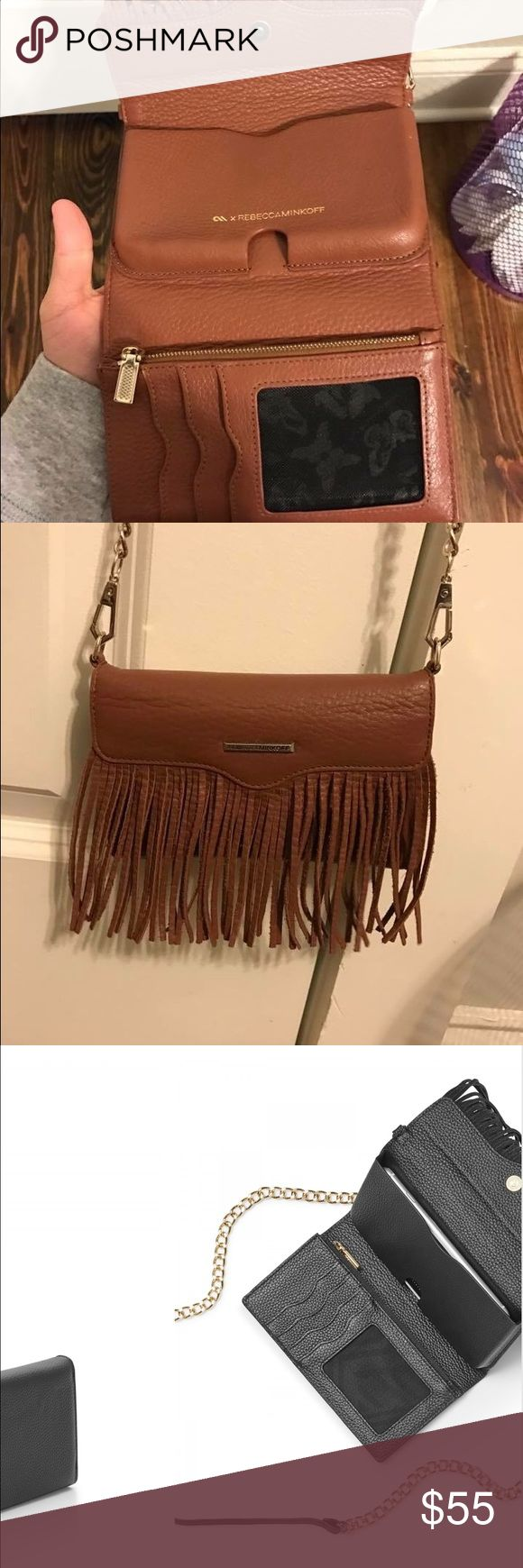 Rebecca Minkoff Fringe Tech Purse Holds iPhone 6 or 6s, used one or two times, great condition just got a new phone that doesn't fit Rebecca Minkoff Bags Mini Bags