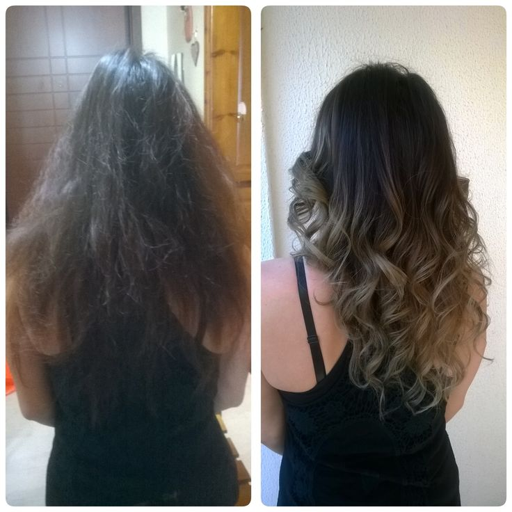 Make over....long hair , brunette, balayage, natural soft ombre  Cut & color by Penny Voudouri