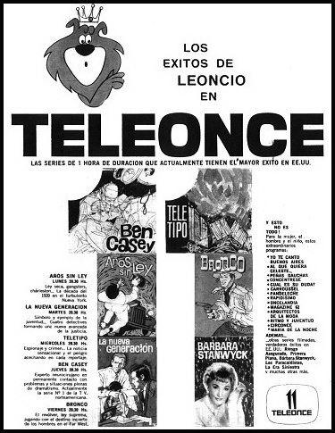 CANAL 11, Buenos Aires. Publicidad programación 1962.                                                                                                                                                                                 Más