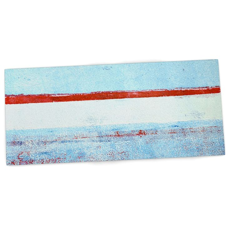 "CarolLynn Tice ""Stripes"" Blue White Desk Mat"
