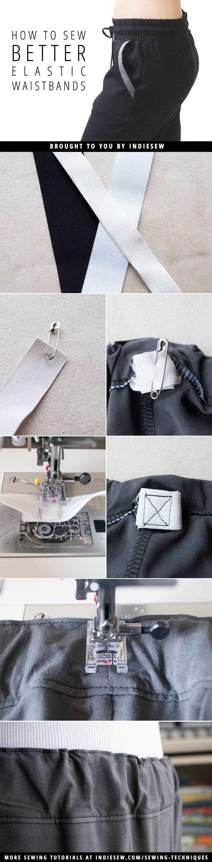 Do you struggle with elastic waistbands that twist inside their casings? Read this post to learn some handy tricks for picture perfect waistbands.   Indiesew.com
