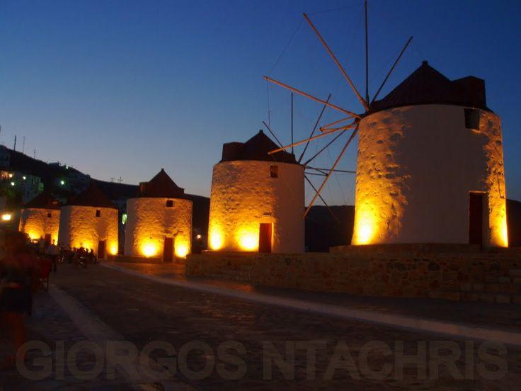 Old windmills at #Astypalaia, #greece