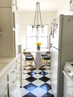 Brady's DIY Peel and Stick Kitchen Flooring (for under $50)