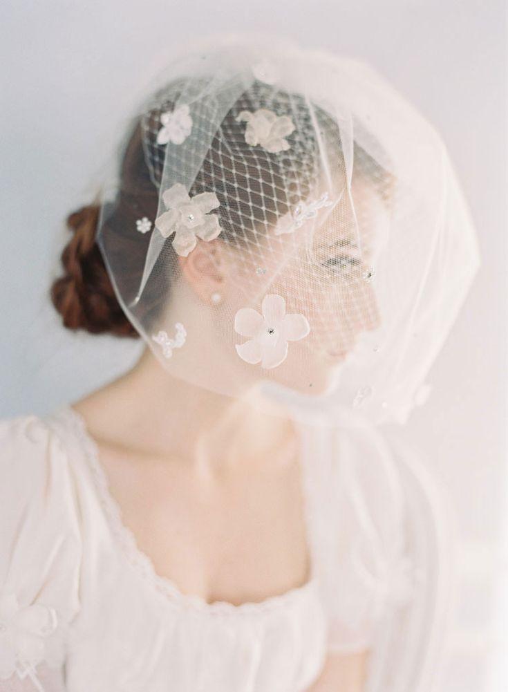 wedding veil by erica elizabeth.  photography by caroline tran.