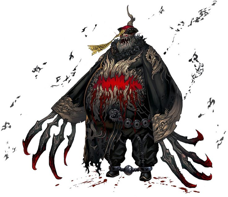 Ohh! It's like a ghoulish Jiang-shi vampire! I could totally use this as a villain against the Weeping Lotus.
