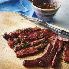 Bobby Flay's Grilled Skirt Steak with Smoky Red Chimichurri
