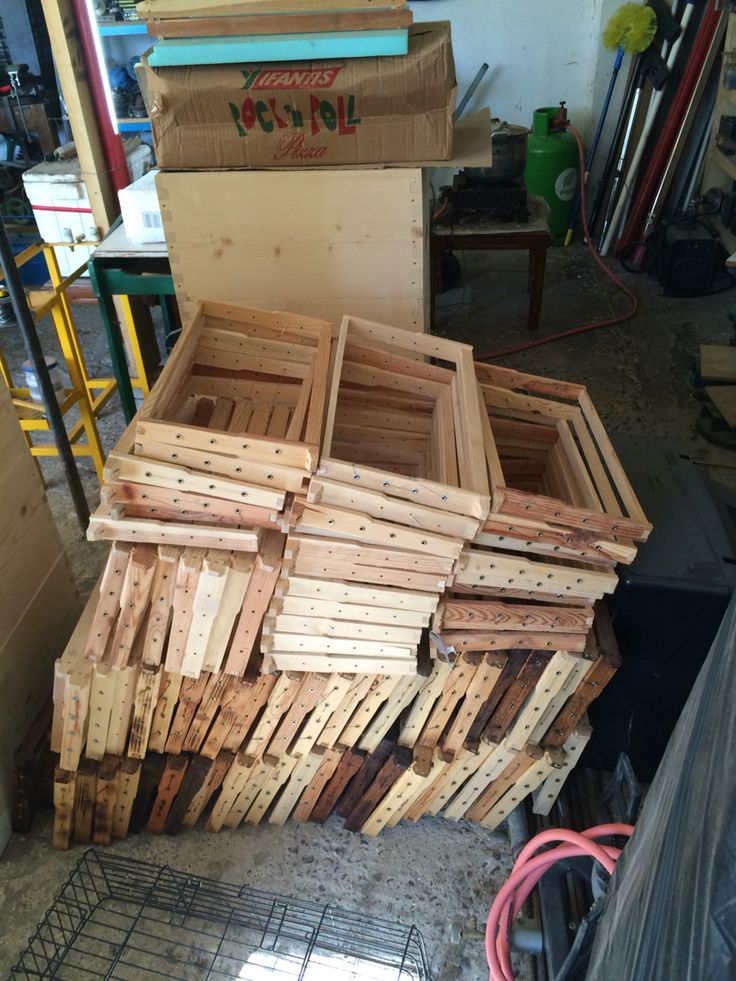 Getting the Bee Hives Frames ready