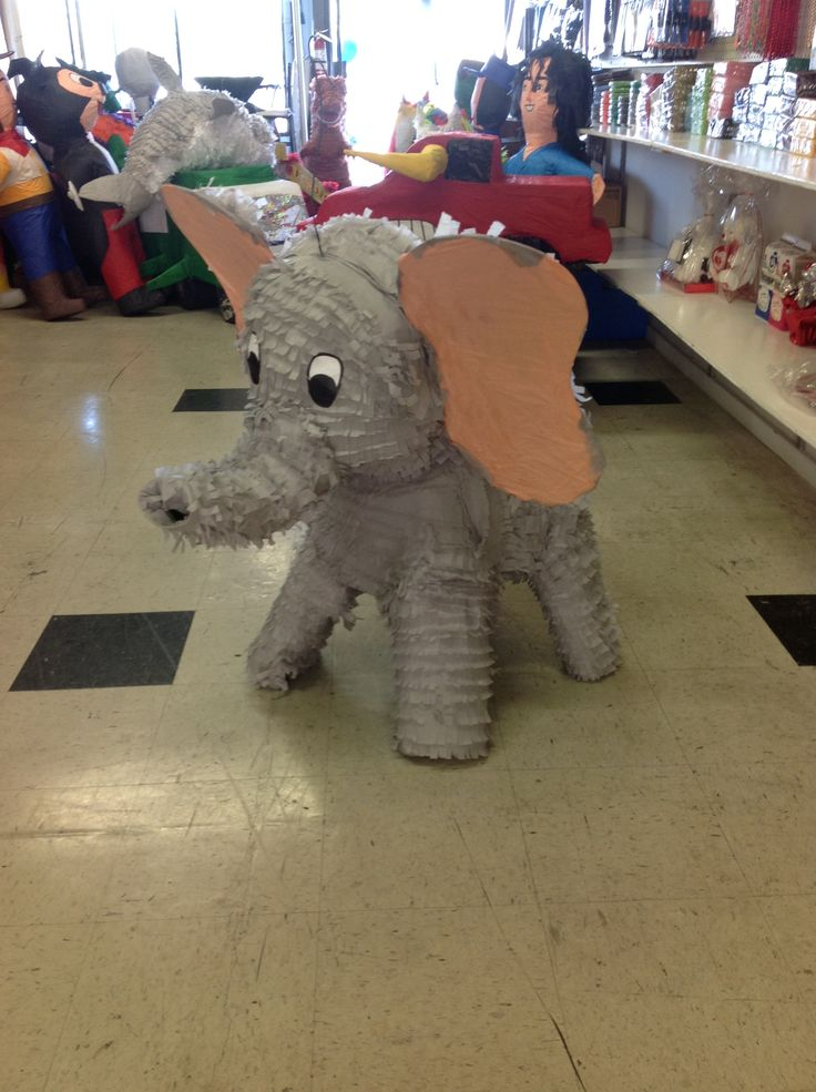 Cutest elephant piñata, agree?  Don't see what you're looking for on our page? Contact us for a custom piñata.