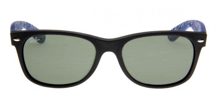 Óculos de Sol Ray-Ban New Wayfarer Preto e Azul RB2132LL   Moda   Pinterest 5f1a68262e