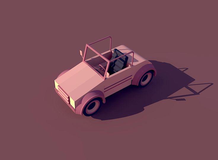 Ознакомьтесь с моим проектом @Behance: «Low Poly Car» https://www.behance.net/gallery/48925367/Low-Poly-Car