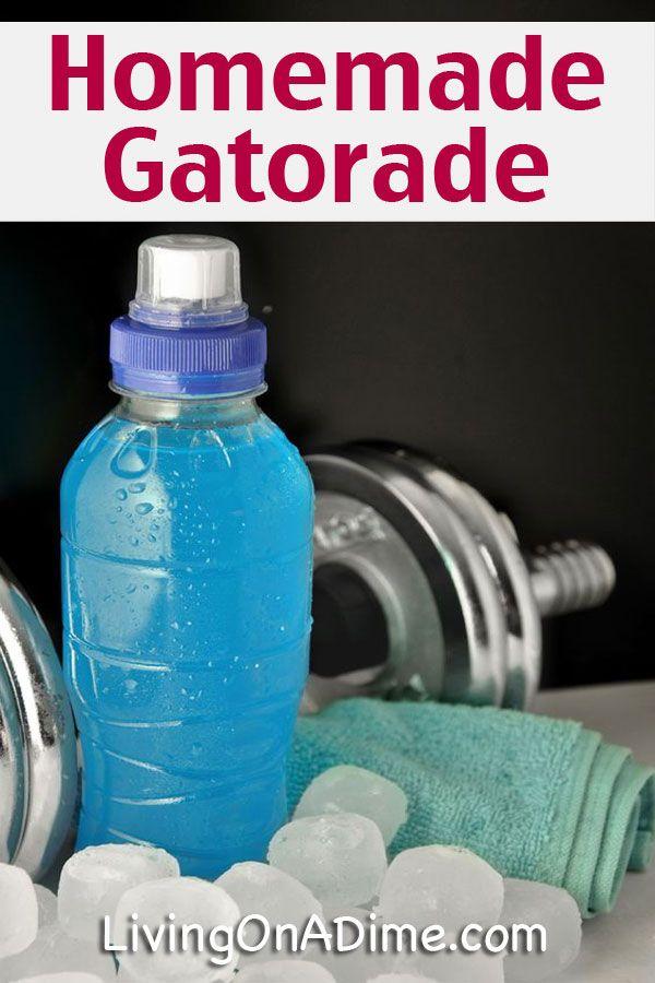 Homemade Gatorade Sports Drink Recipe