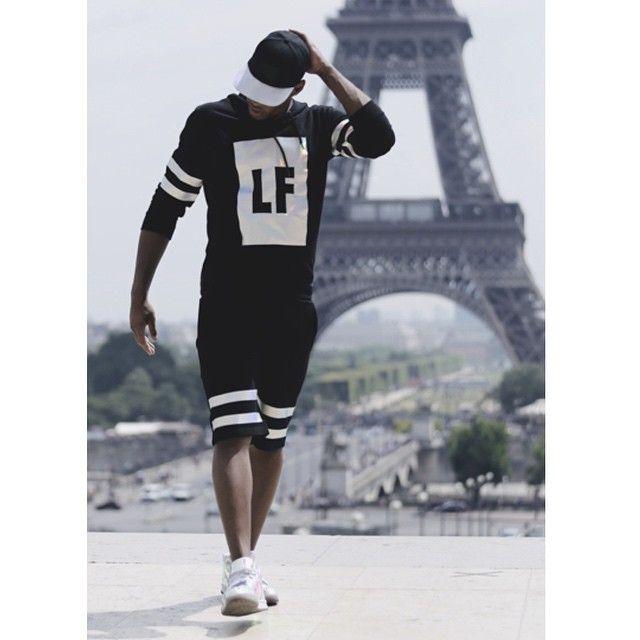 Men Fashion Leef Dope TShirt Shorts SnapBack Streetwear ...