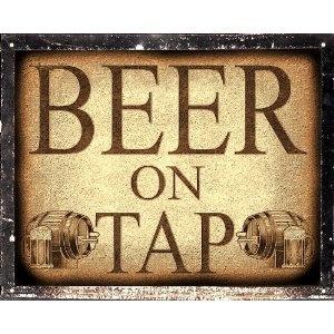 Mancave Beer tap sign Pub Tavern / restaurant retro vintage Wall decor