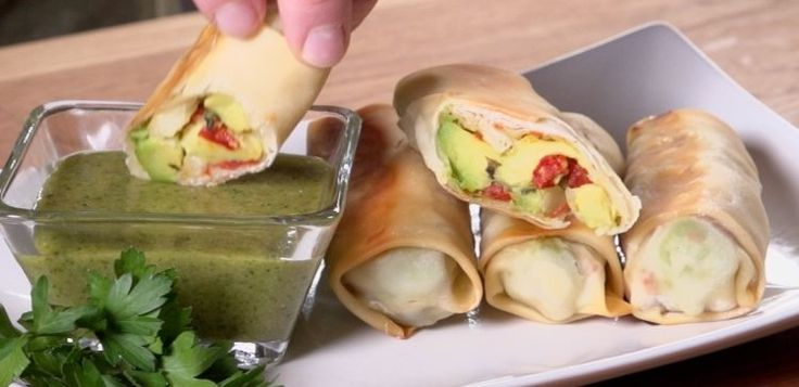 Baked Avocado Rolls | Baked Avocado Rolls make with low carb crepes!!