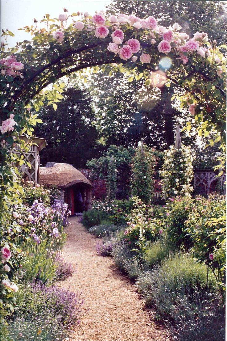 English rose gardens english rose garden seend - Rose Blairi 2 On An Arch Looking Into The English Quadrant