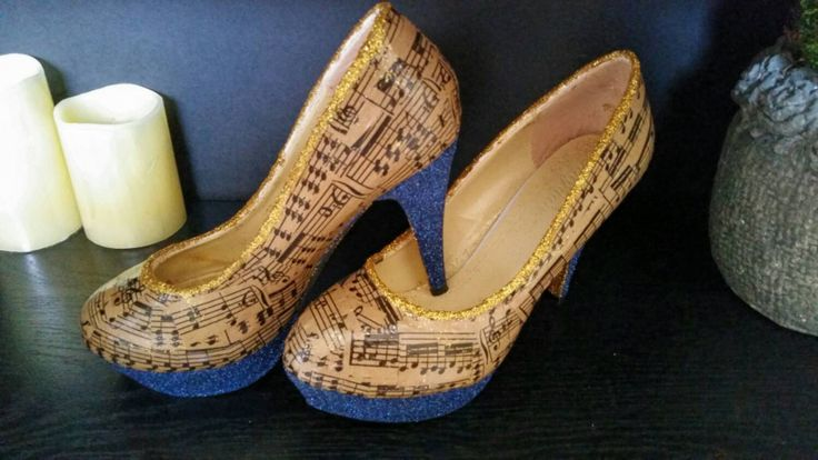 Pretty sheet music heels/custom order /Music Shoes/MADE TO ORDER - pinned by pin4etsy.com
