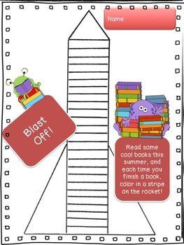 Blast Off! Easy-breezy summer reading chart