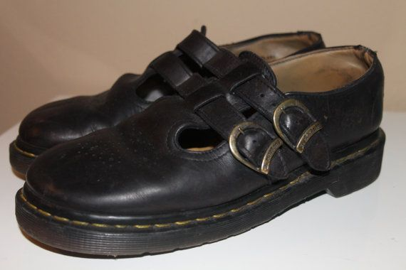 Vintage Worn In Black Mary Jane Doc Martens  by NativeLilacVintage